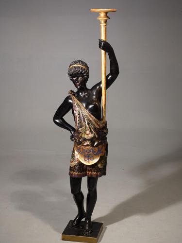 A Very Good Quality Late 19th Century Venetian Nubian Figure