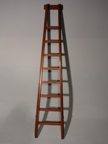 A Good Early 20th Century Set of Mahogany Framed Libray Ladders