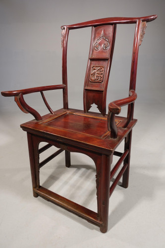 An Early 20th Century Oriental Elbow Chair