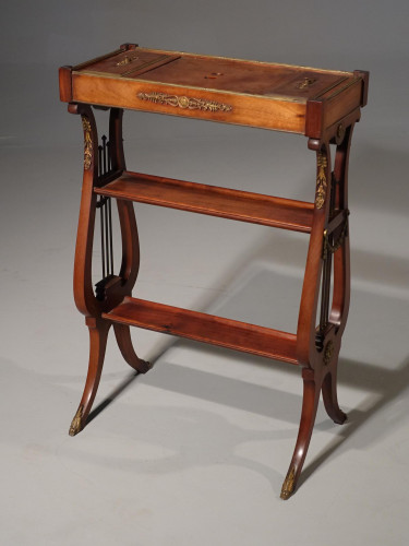 An Attractive and Slender Mid 19th Century Mahogany Tricoteuse