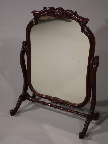 An Exceptional and Finely Carved Free Standing Toilet Mirror