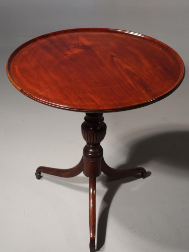 A Well Carved Late George III Period Mahogany Tilt Table