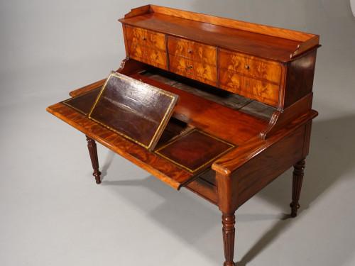 A Beautifully Figured Mid 19th Century Mahogany Writing Table