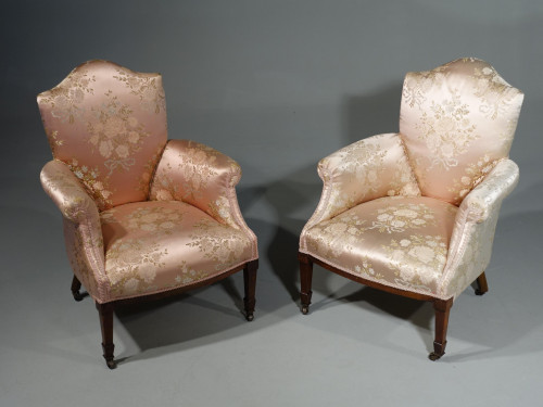 A Most Elegant Pair of Late 19th Century Boudoir or Drawing Room Chairs