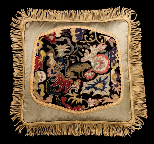 Cushion: 18th Century, Wool. A Mythical Beast.