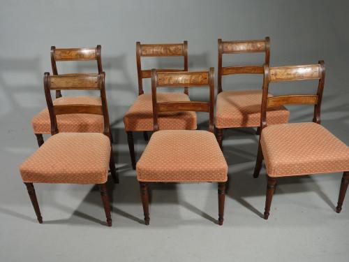 An Elegant Set of 6 George III Period Mahogany Single Chairs