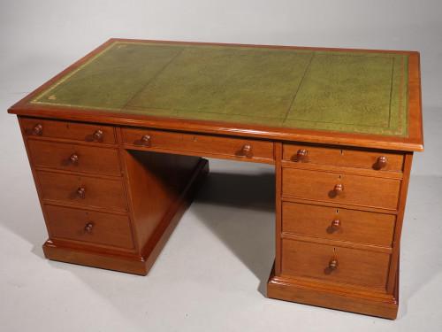 A Good Late Regency Mahogany Partners Desk