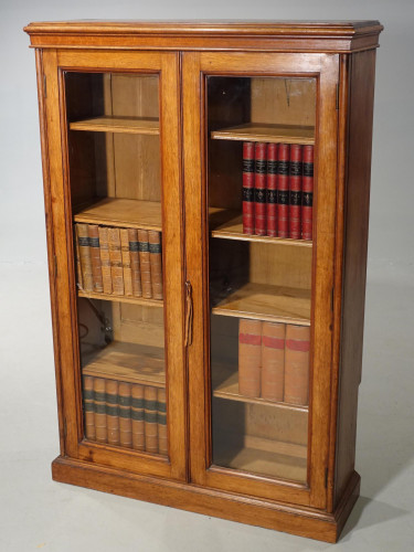 A Late 19th Century Oak Two Door Bookcase