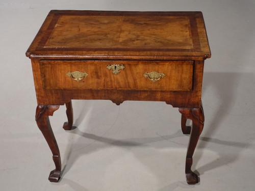 A Pretty Queen Anne Period Walnut Single Drawer Lowboy