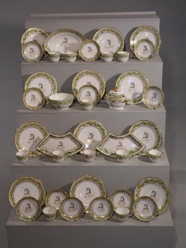 A Fine 42 Piece Copeland Armorial Tea and Dessert Service