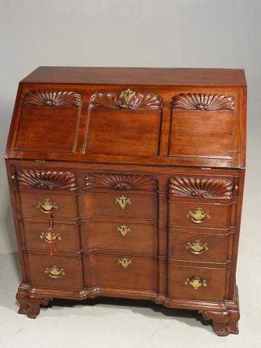 A Beautifully Made George III Period Mahogany Bureau in the American Taste