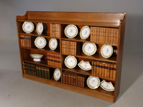 A Well Constructed Early 20h Century Walnut Double Bookcase