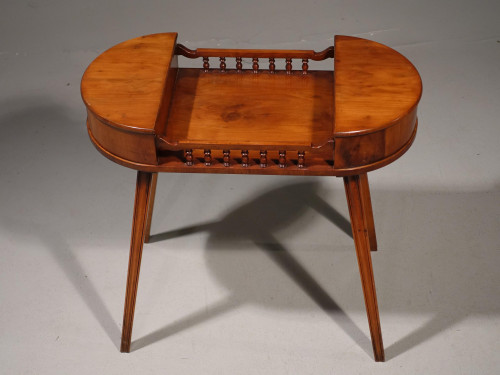 A Late 20th Century Yew Tree Ladies Work Table