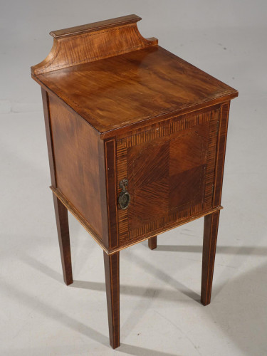 An Elegant Early 20th Century Mahogany Night Cupboard