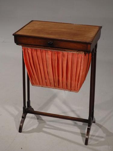 A Simple Late George III Period Mahogany Ladies Work Table