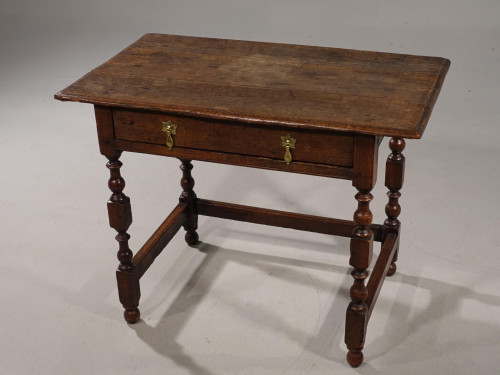 A Late 17th / Early 18th Century Single Drawer Oak Side Table