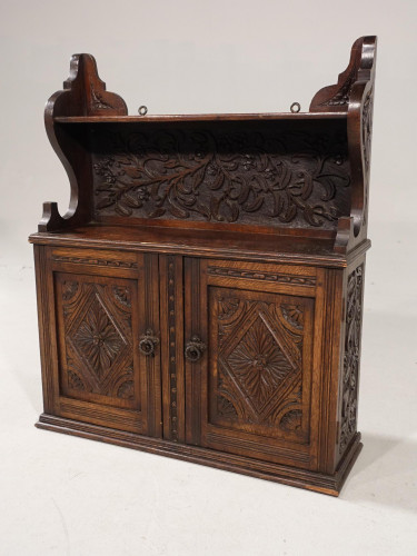 A Well Carved Late 19th Century Hanging Cupboard