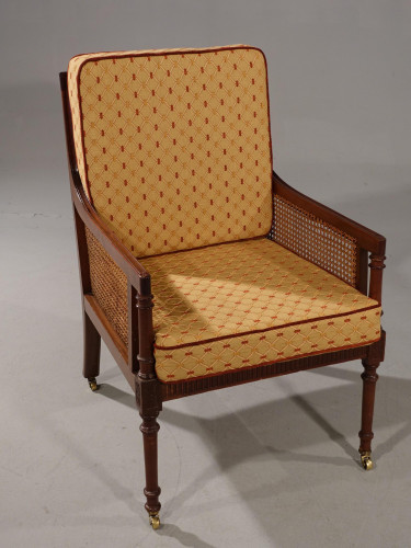 A Very Good and Original Regency Period Bergère Armchair