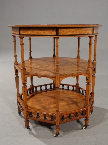 An Exceptional Late 19th Century Octagonal Satinwood Table