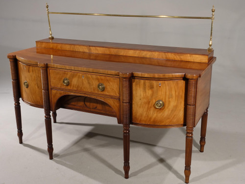 A Regency Period Bow and Breakfront Sideboard