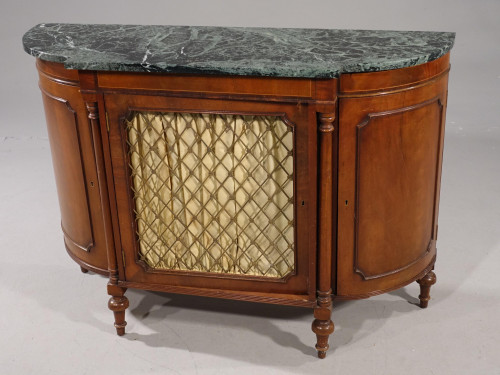 An Attractive Early 20th Century Bow Ended Regency Style Mahogany Side Cabinet