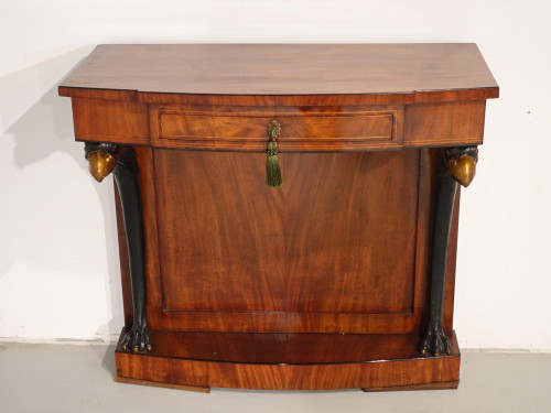 A Quite Rare Mid 19th Century Continental Mahogany Pier Table