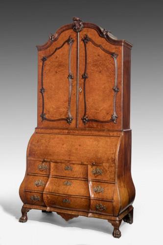 Mid-18th Century Burr Amboyna Bureau Cabinet