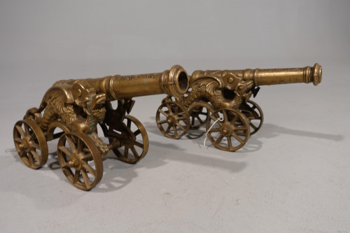 A Late 19th Century Pair of Spanish Desk Cannons