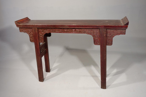 A Well Carved Late 19th Century Artist's or Alter Table