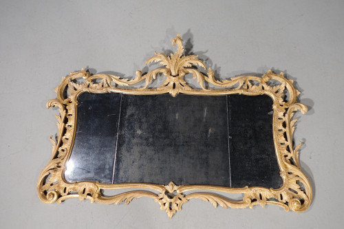 A Finely Carved Chippendale Period Rococo Landscape Mirror