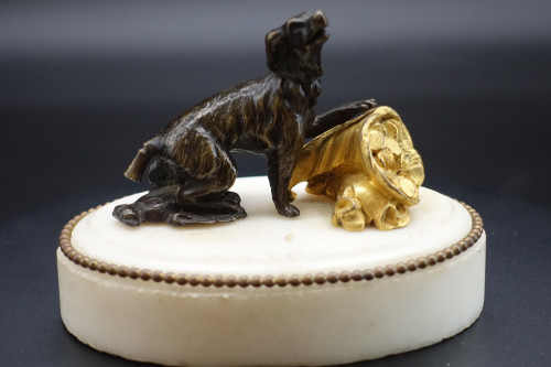 An Early 19th Century Bronze Figure of a Hound by Thomas Weeks