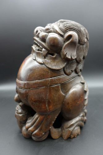 A Very Well Carved Early 20th Century Temple Dog