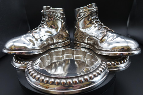 An Unusual Pair of Late 19th Century Pair of Quill Holders in the Shape of Boots