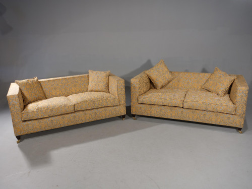 A Handsome Pair of Box Classical Sofas