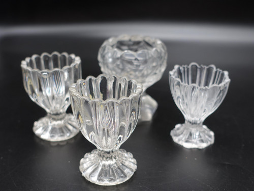 Four Early 19th Century Glass Stemmed Condiments