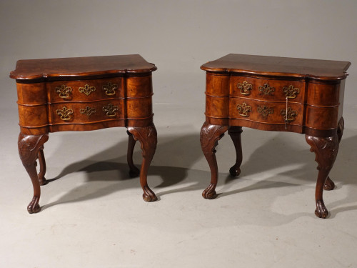 A Lovely Pair of Early 20th Century North European Walnut Chests