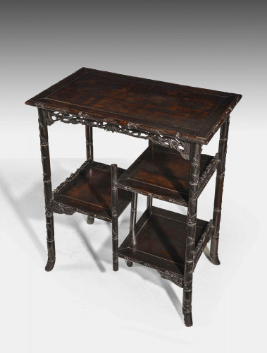 A Good Late 19th Century Chinese Hardwood Etagere