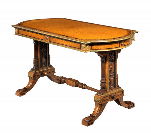Mid-19th Century rectangular Library Table by Johnstone and Jeanes