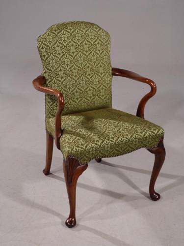 A Shapely Early 20th Century Walnut Framed armchair