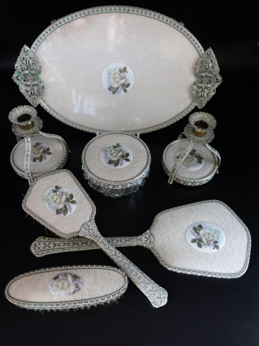A Most Unusual Early 20th Century Dressing Table Service
