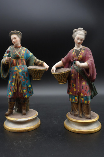 A Charming Pair of Early 20th Century Meissen Figures in Oriental Garb