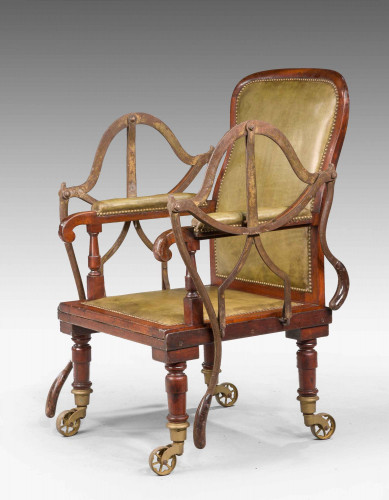 19th Century Mahogany Framed Carrying Chair