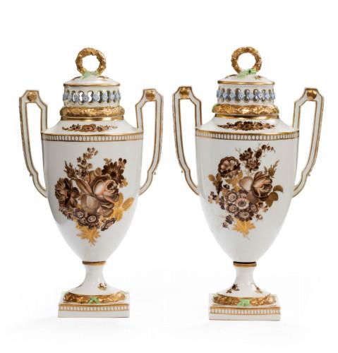 Pair of Late 18th Century Augustus Rex Vases