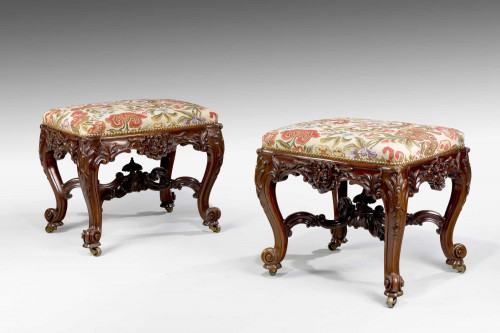 Exceptional Pair of 19th Century Stools