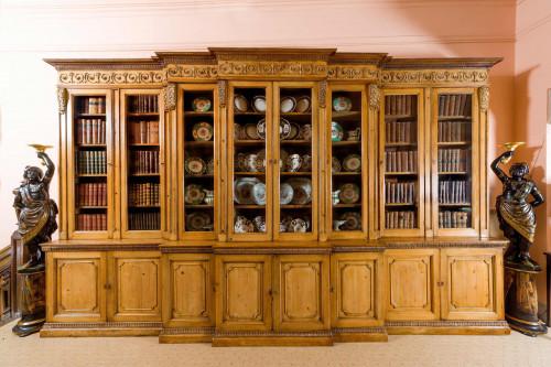 18th Century Pine Triple Breakfront Bookcase