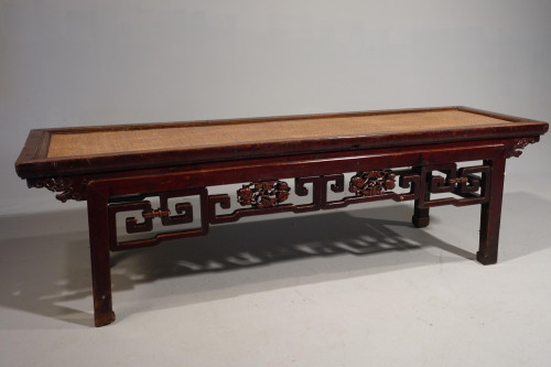A Rare Early 20th Century Elm Ladies Opium Bed