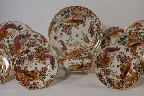 A Set of 10 Derby Old Ainsbury Porcelain