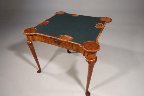 A Rare Early 18th Century Walnut Games Table