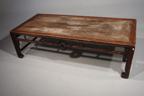 A Rare Early 20th Century Elm Opium Bed