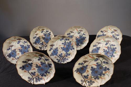 A Set of 8 Late 18th Century Japanese Imari Plates